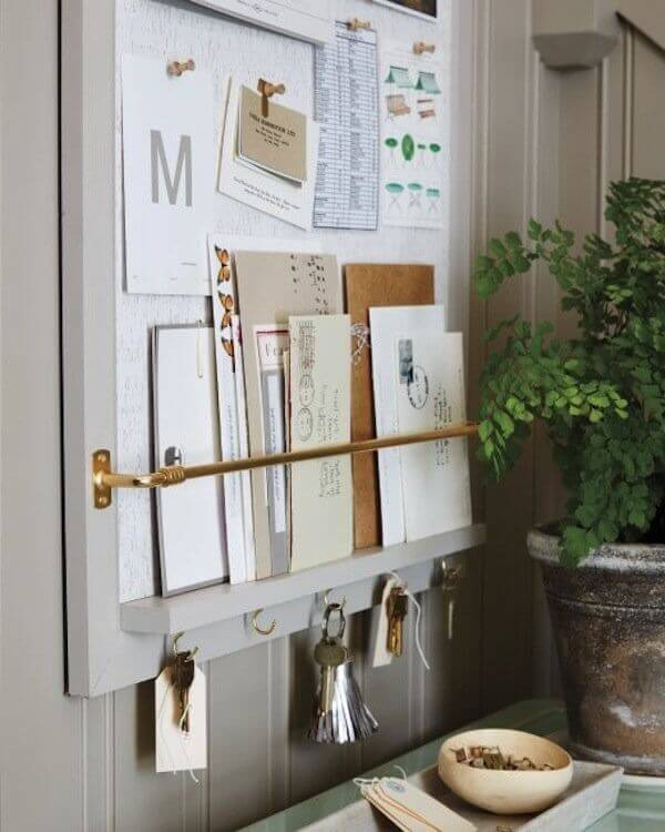 Cork Mail Slot Organizer