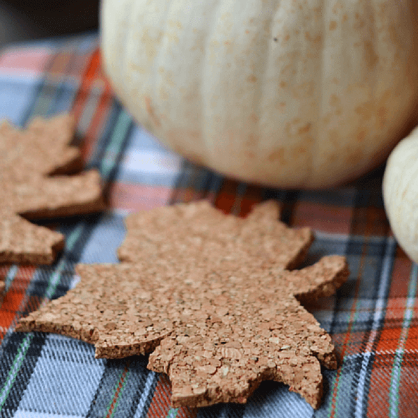 Fall Cork Leaf Coaster