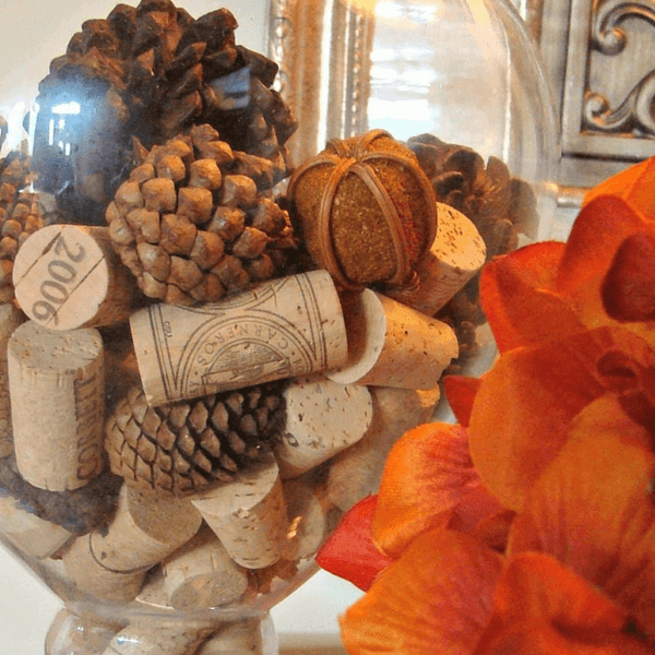 Fall Stopper Pinecone Jar