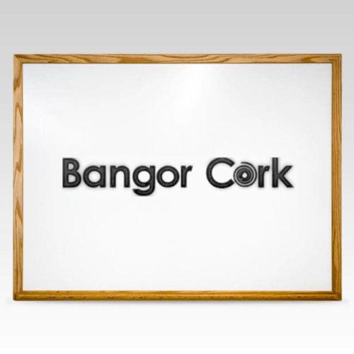 Bangor Cork Logo Wood Whiteboard