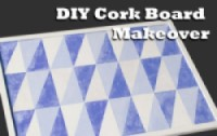 Blue DIY Cork Board Small