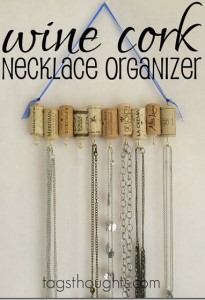 Wine Cork Necklace Organizer
