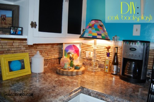 Cork Stopper Backsplash